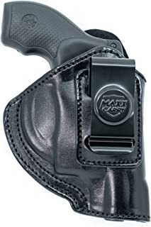 """Maxx Carry Inside The Waistband Leather Holster Fits S&W J Frame 2"""" Barrel. IWB Holster"""