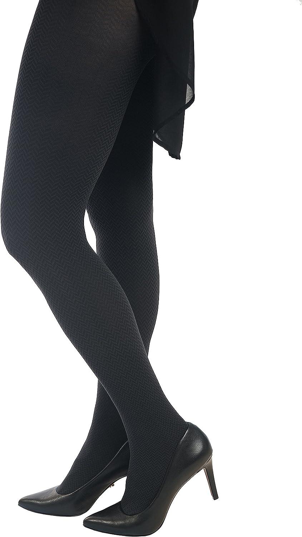Lupo Women's Chevron Pantyhose Tweed Pattern 70 Denier
