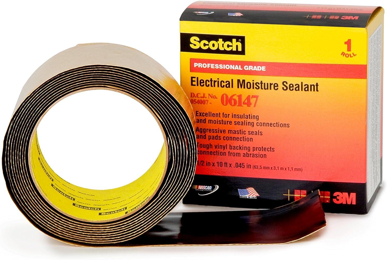 Scotch 06147 Electrical Moisture Sealant Roll (21 2 in x 10Feet 63mm x 3.05m)