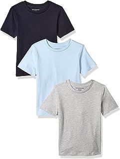 Amazon Essentials Boys'  3-Pack Short Sleeve Tee