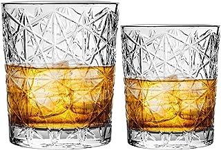 Bormioli Rocco Lounge - Whiskeygläser & Double-Old-Fashioned-Gläser - Schliff im Vintage-Stil - 12 Stück