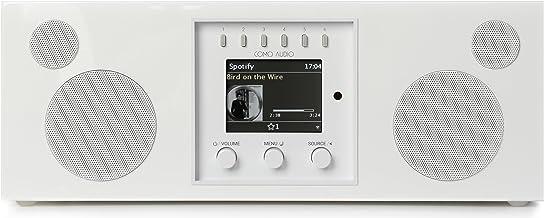 Como Audio: Duetto - سیستم موسیقی بی سیم با رادیو اینترنتی ، Spotify Connect ، Wi-Fi ، FM و بلوتوث - پیانو سفید
