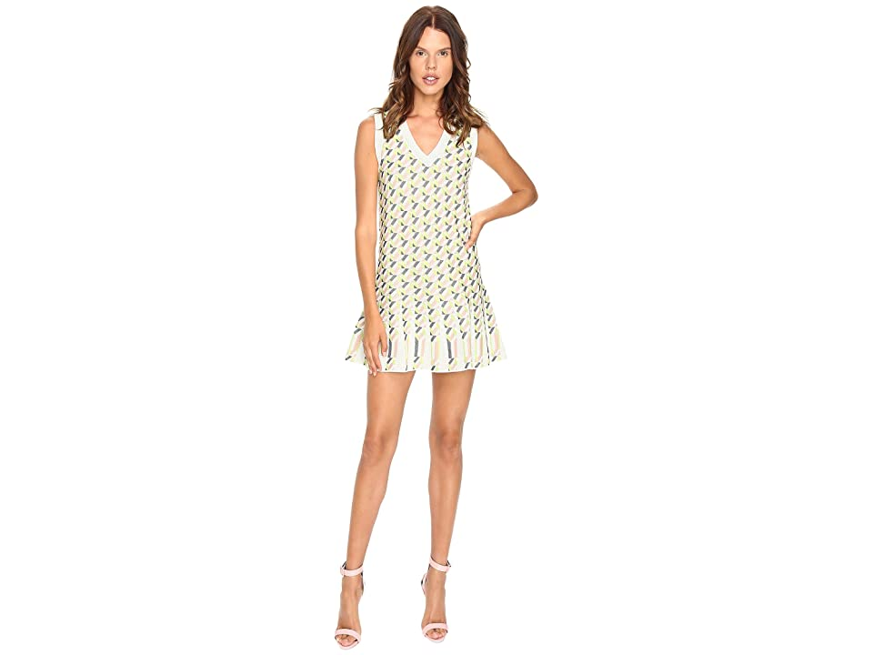M Missoni Geometric Jacquard Dress (Ivory) Women