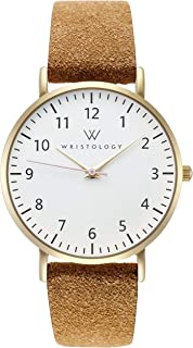 WRISTOLOGY Olivia - 5 Options - Womens Numbers Gold Watch