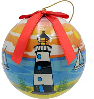 Rockin Christmas Ornament Hanging Ball Lighthouse Decorative Ornament and Gift