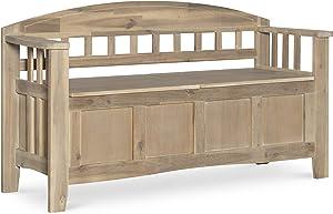 Linon  Bench, Natural Wash