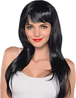 Amscan Glamourous Party Wig Costume, Black