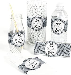We Still Do - 25th Wedding Anniversary - DIY Party Supplies - Wedding Anniversary Party DIY Wrapper Favors & Decorations - Set of 15