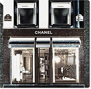 The Oliver Gal Artist Co. Fashion and Glam Wall Art Canvas Prints 'My Favorite Store' Home Décor, 16 x 16, Black, White