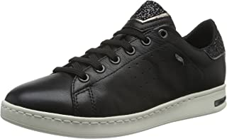 GEOX D Jaysen A Womens Nappa Leather Trainers/Shoes - Black
