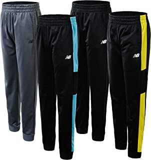 New Balance Boys' Sweatpants - 4 Pack Active Tricot Joggers (Little Kid/Big Kid)