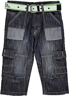 Belted Denim Cargo Shorts Juniors Dark Wash Skate Clothing Bottoms