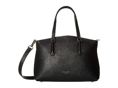 Kate Spade New York Andi Small Satchel (Black) Handbags