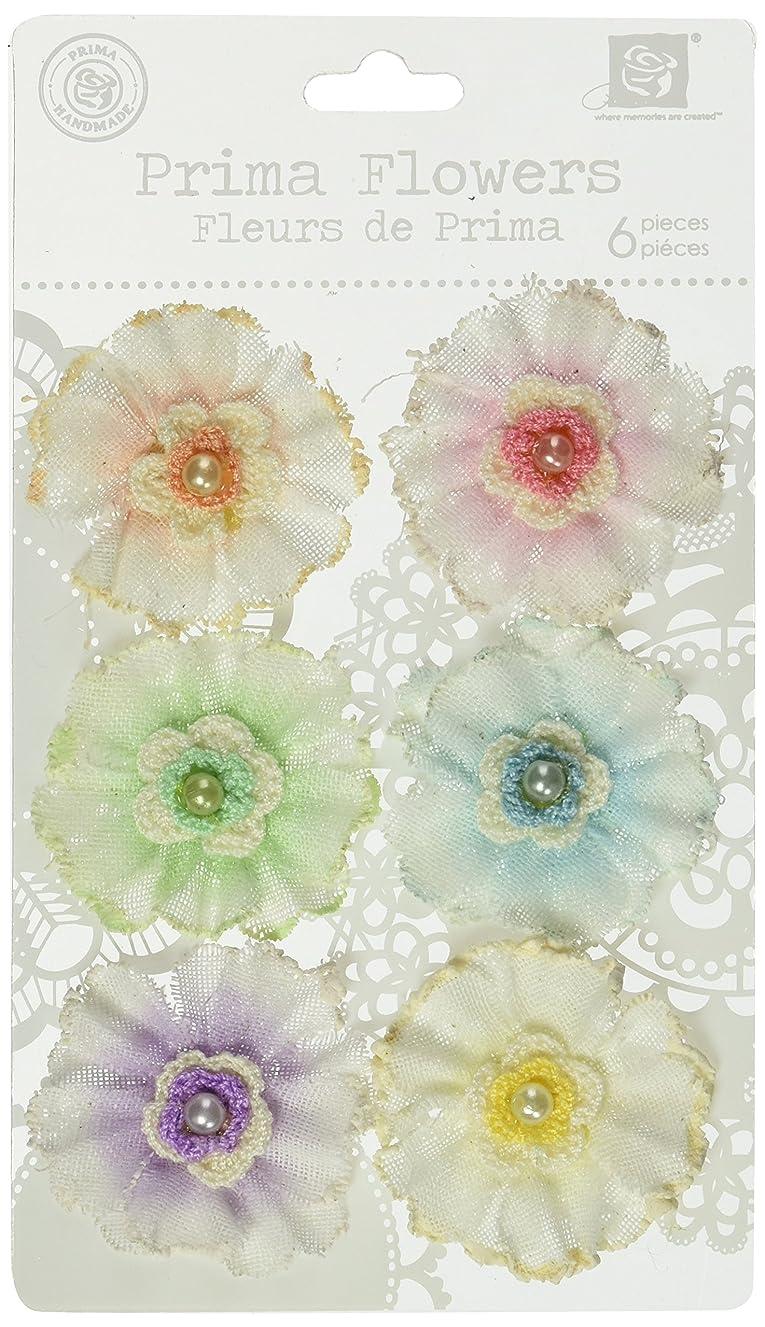 Prima 542702 2-Inch Angelous Fabric Flower Embellishments, Uriel