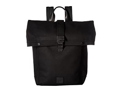 KNOMO London Fulham Novello Roll Top Backpack (Black) Backpack Bags