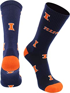 TCK Illinois Illini Socks University of Illinois Fighting Illini Mayhem Crew Socks