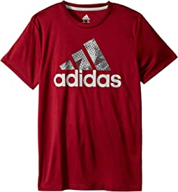 adidas Kids - Short Sleeve Pattern Fill Logo Tee (Big Kids)