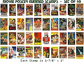 Classic Science Fiction Movie Poster Stamps, Set of 40