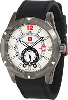 Swiss Military Calibre Men's 06-4R5-04-001R Revolution IP Grey Sub-seconds Date Display Black Rubber Watch