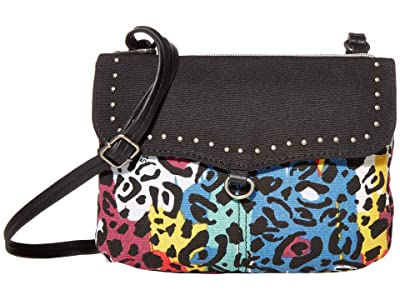 Sakroots Austen Double Gusset Crossbody (Multi Spotted Wildlife) Cross Body Handbags