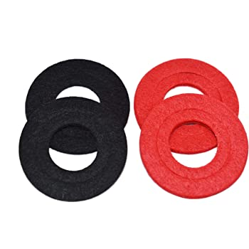A-Team Performance Battery Anti Corrosion Washers — Red and Black — Pack of 4