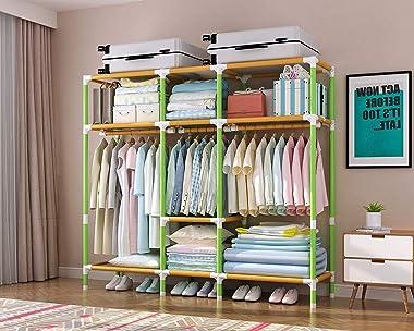 JIY 68-inch Wardrobe Storage Wardrobe Portable Wardrobe Organize Bags Wardrobe Organizer Clothes Cabinet Vertical Wardrobe Be