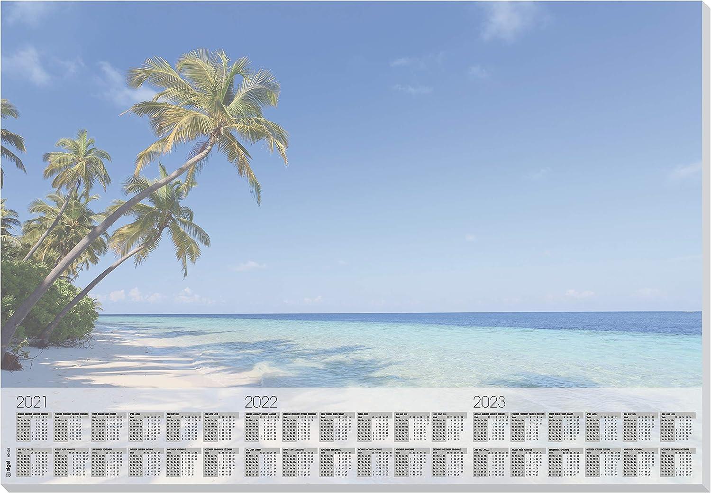 80gsm Design Whisper Sigel HO400 Paper Desk Pad 30 Sheets A2 59.5 x 41 cm with 3-Year Calendar