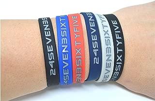 Athlete Wristbands, Motivational, Inspirational Quotes, 5 Color Pk Silicone Bracelets