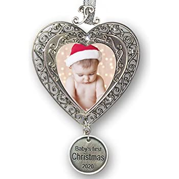 Grandsons First Christmas Ornament 2020 Amazon.com: BANBERRY DESIGNS Baby's First Christmas   2020 1st