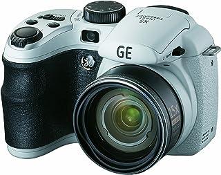 GE General Electric X5 Digitalkamera + 2GB SD Karte (14 Megapixel, 15 Fach Opt. Zoom, 6,9 cm Display (2,7 Zoll), 28 mm Weitwinkel, Opt. Bildstabilisator) weiß