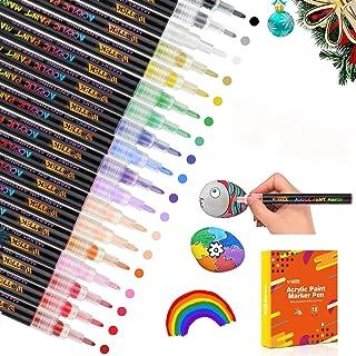 comprar comparacion WOTEK Acrílico Pintura Rotulador Punta Fina, 18/0.7mm Colores Rotuladores Acrilicos Permanente, Marcadores para Pintura de...