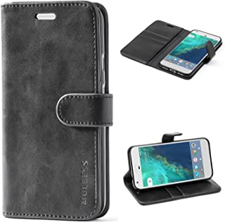 Mulbess Google Pixel XL Protective Cover, Magnetic Closure RFID Blocking Luxury Flip Folio Leather Wallet Phone Case with Card Slots and Kickstand for Google Pixel XL, Black