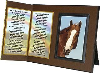 Rainbow Bridge Poem for Horses Sympathy Picture Frame Gift and Memorial Keepsake