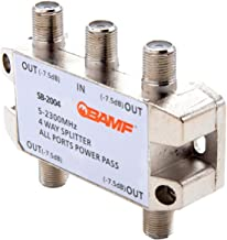 BAMF 4-Way Coax Cable Splitter Bi-Directional MoCA 5-2300MHz