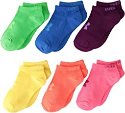 Under Armour - UA Solid 6-Pack No Show (Big Kid)