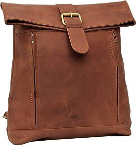 Menzo Rucksack aus echten Leder, Daypack für Damen und Herren deltabraun