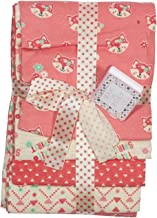 Zak and Zoey 4-Pack Flannel Receiving Blankets, Coral Pink, White