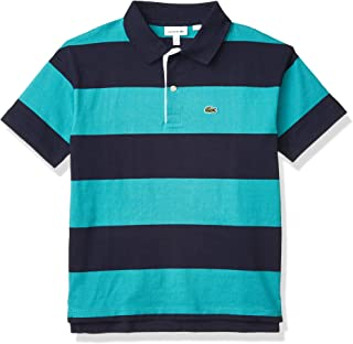 Lacoste Boys' Striped Jersey Cotton Polo Shirt
