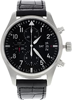 IWC Men's Swiss Automatic Watch with Stainless Steel Strap, Black (Model: IW377701)