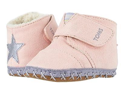 TOMS Kids Cuna (Infant/Toddler) (Pink Microsuede/Star Applique) Girl