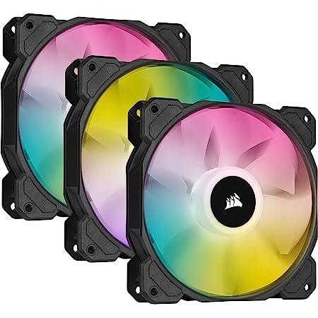Corsair iCUE SP120 RGB ELITE Kit de 3 Ventiladores RGB 120mm PWM con controlador iCUE Lightning Node CORE