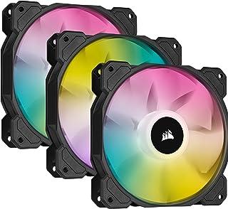 Kit de trois ventilateurs PWM CORSAIR iCUE SP120 RGB ELITE Performance 120 mm avec iCUE