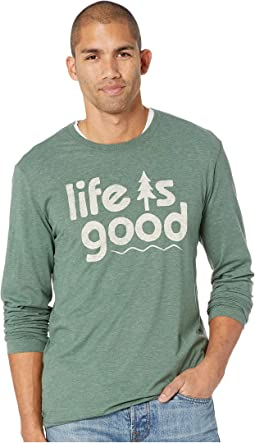Life is Good Pine Cool Long Sleeve T-Shirt