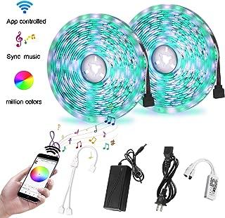 Richsing LED Strip Lights, WiFi LED Lights for Room 32.8ft RGB LED Light Strips SMD5050 Color Changing Lights Sync Music