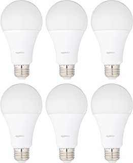 AmazonBasics 100 Watt Equivalent, Soft White, Non-Dimmable, A21 LED Light Bulb | 6-Pack