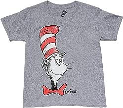 Dr Seuss Boy's T-Shirt Cat in The Hat Print Short Sleeve Tee