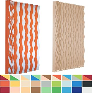 SUNSAILS Fabric Vertical Blinds, 3 1/2 inch Wide Replacement Figured Slats, Home Decoration Adjustable Custom Made Blinds for Living Room Patio Doors, Wave-Shaped Slats, 24 Pieces 120 inch Length