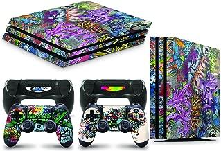 Gizmoz n Gadgetz PS4 PRO Console Graffiti Skin Decal Vinal Sticker + 2 Controller Skins Set