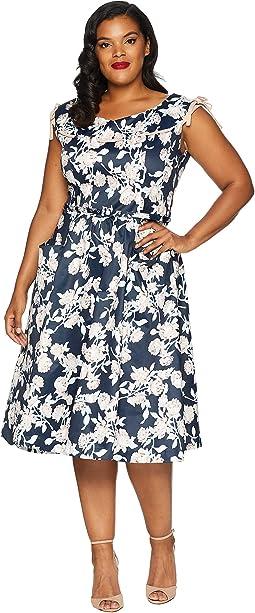 Plus Size 1950s Style Marlo Swing Dress