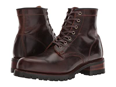 Frye Addison Lug Lace-Up (Dark Brown Smooth Pull Up) Men